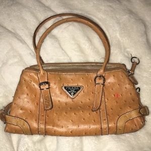 Tan Prada bag